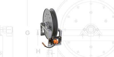 SWCR: Spring rewind arc welding reels power rewind