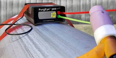 Low cost weld purge monitoring down to 10 ppm